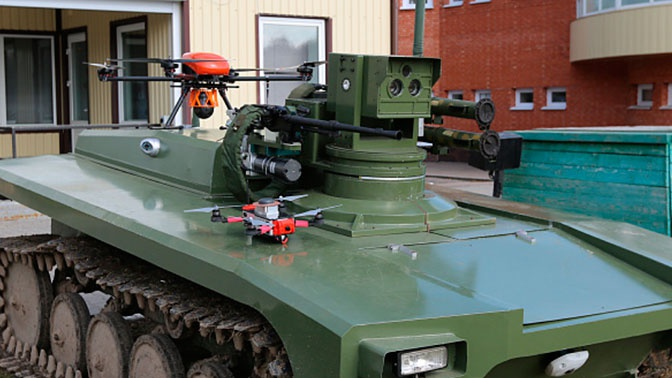 Завершены ходовые испытания нового боевого робота «Маркер»