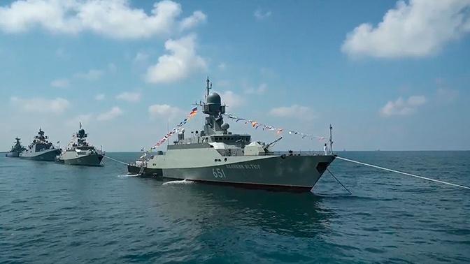 Готовы к любой задаче: как прошел парад ко Дню ВМФ РФ в Сирии