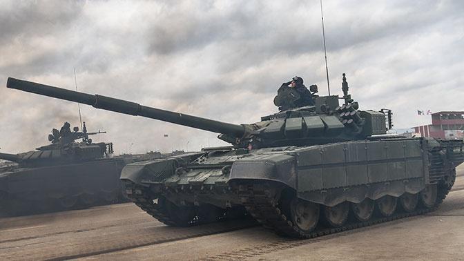 Новая партия танков Т-72Б3 поступила в войска