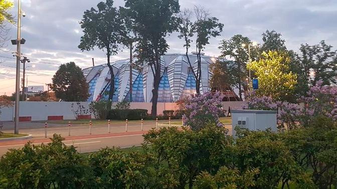 В Москве горит часть комплекса «Лужники»