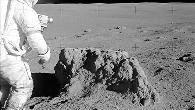 Доставленный с Луны миссией «Аполлон-14» камень оказался земным