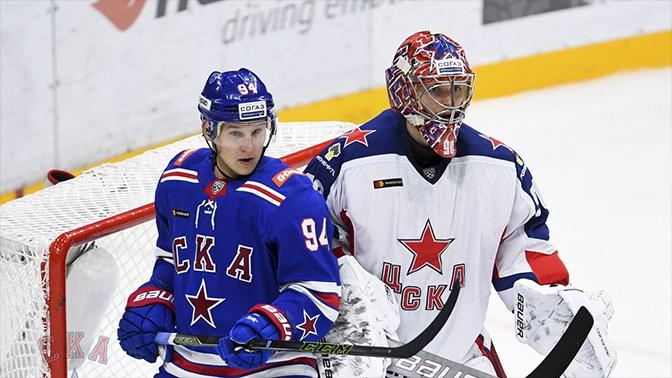 ЦСКА всухую обыграл СКА в матче КХЛ