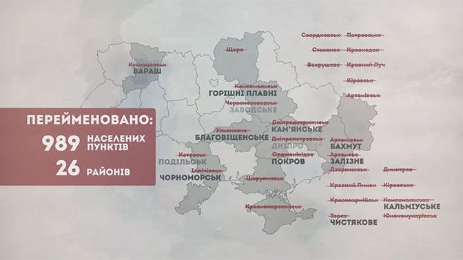 В рамках декоммунизации на Украине переименовали почти тысячу городов