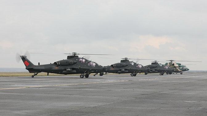 Почти 130 военных вертолетов РФ и Китая задействованы на «Центр-2019»