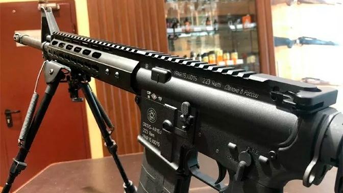В Москве впервые публично представили аналог американской винтовки AR-15