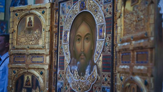 Главная икона ВС РФ «Спас Нерукотворный» прибыла в Читу