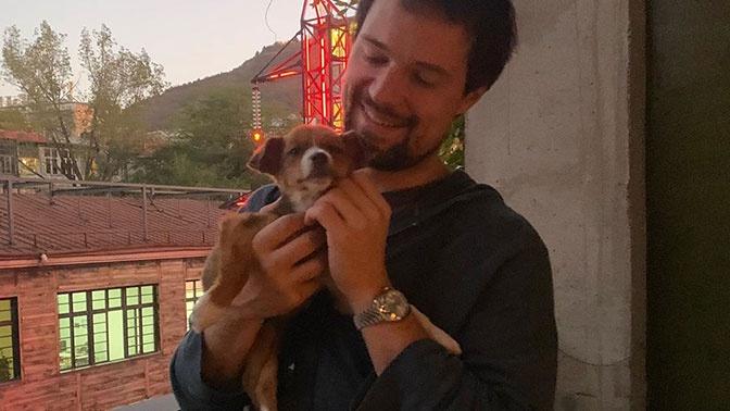 Данила Козловский спас в Грузии умирающего щенка