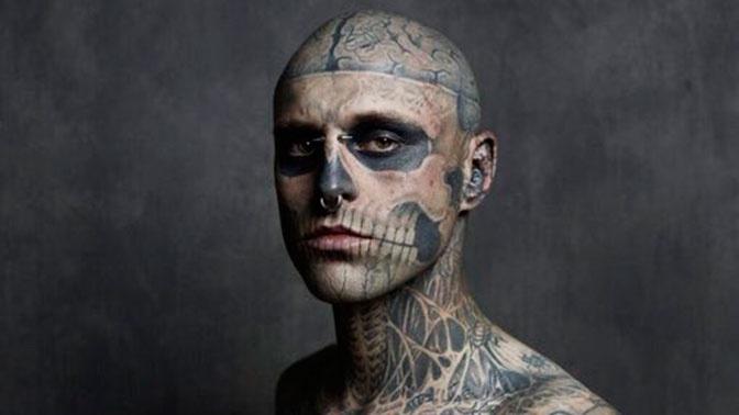 Тату-модель Zombie Boy погиб в результате несчастного случая