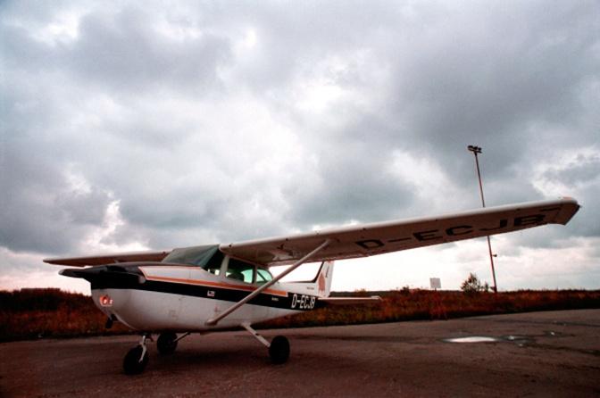 Спортивный самолет «Сессна», на котором Матиас Руст приземлился на Красной площади