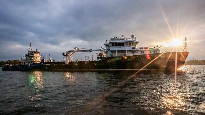 Судно «Николай Скосырев» прибыло на Северный флот для ходовых испытаний