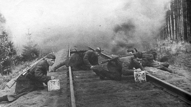 Советские военнослужащие в тылу противника