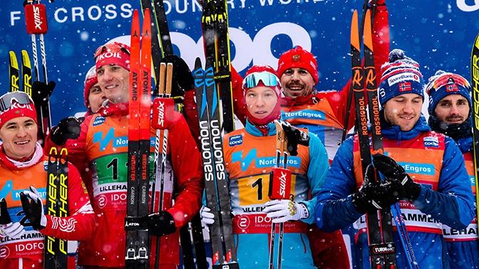 Российские лыжники завоевали золото и серебро на этапе Кубка мира