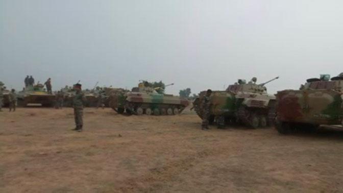 Военные полицейские РФ и Индии обеспечивают правопорядок на учениях «Индра-2019»