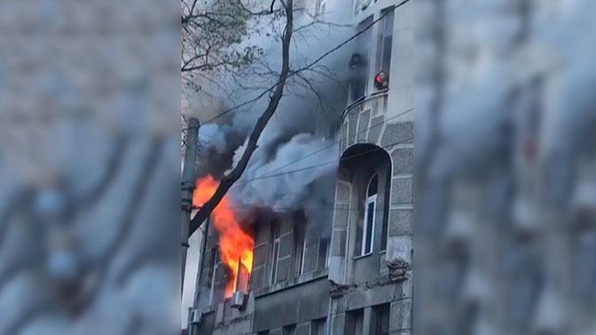 На Украине установили причину пожара в одесском колледже