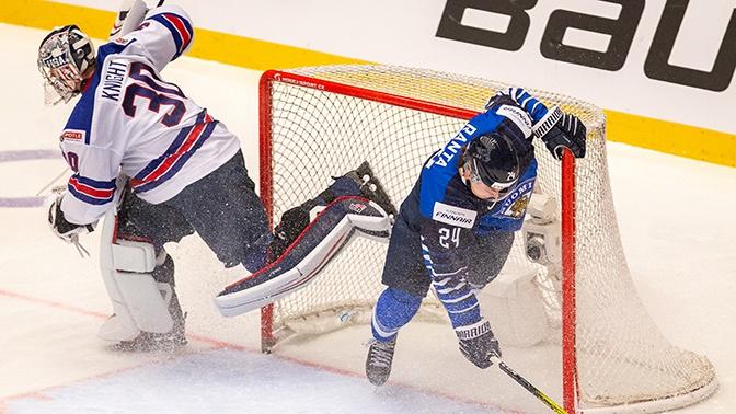Финны победили американцев в четвертьфинале МЧМ по хоккею