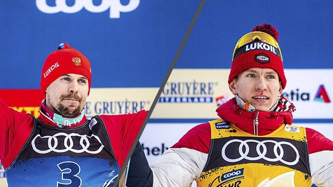 Российские лыжники заняли два места на пьедестале почета Tour de Ski