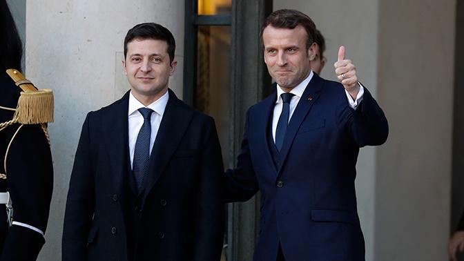 Макрон и Зеленский обсудили выполнение договоренностей «нормандского» саммита