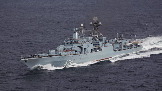 БПК «Вице-адмирал Кулаков» вошел в Босфор