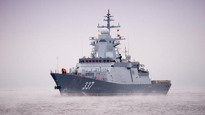 Корвет «Гремящий»  испытал новый комплекс морского оружия в Баренцевом море
