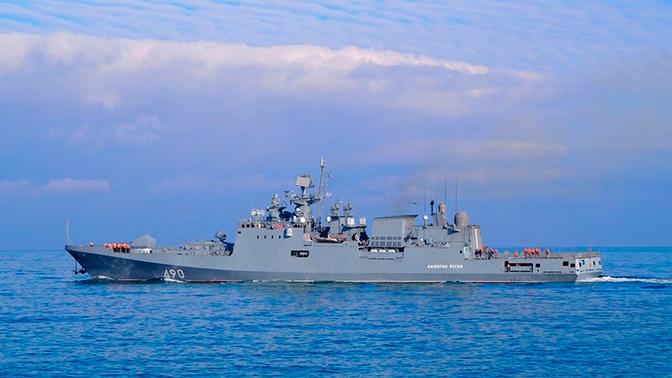 «Адмирал Эссен» отразил ракетную атаку «противника» в Средиземном море