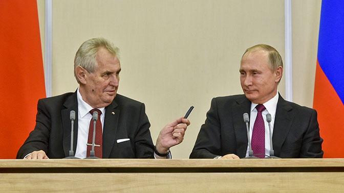 Президент Чехии назвал Путина сильным политиком