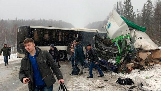 38 человек пострадали в ДТП с автобусом и фурой в Кузбассе