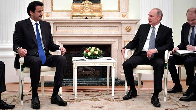 Путин рассчитывает на встречу с эмиром Катара на ПМЭФ в июне