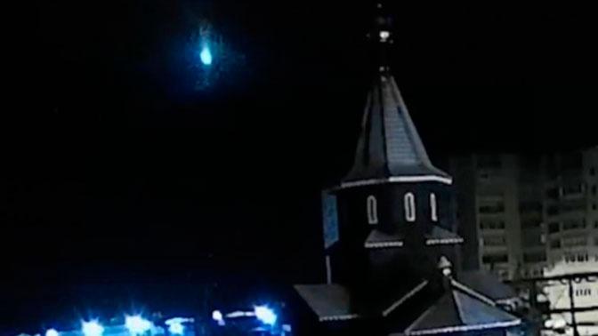 Горящий метеорит в Карелии попал на видео