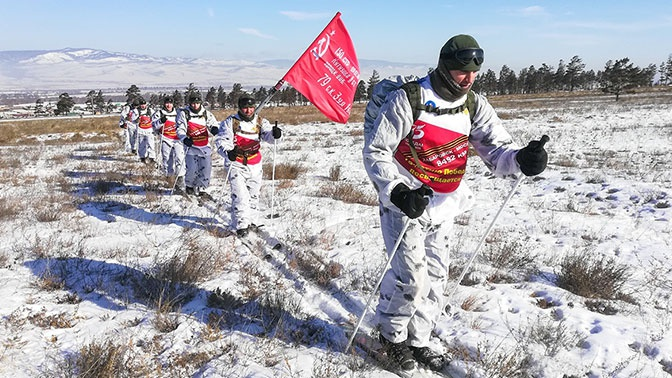 Мороз минус 40: участники перехода в честь 75-летия Победы преодолели 2,5 тысячи км