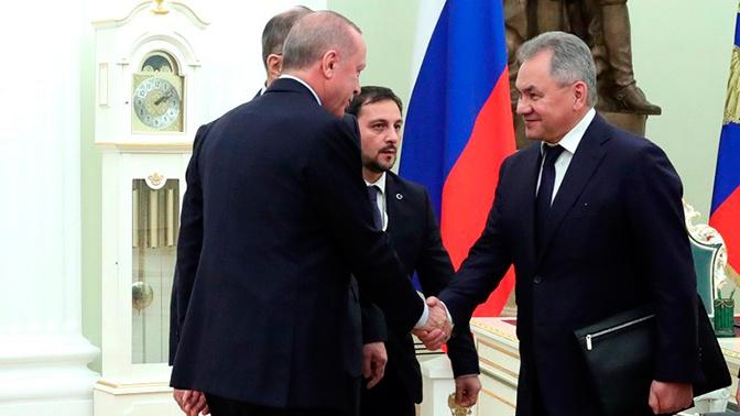 Шойгу поприветствовал Эрдогана