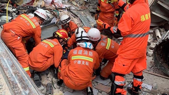 Число погибших при обрушении отеля в Китае возросло до 18