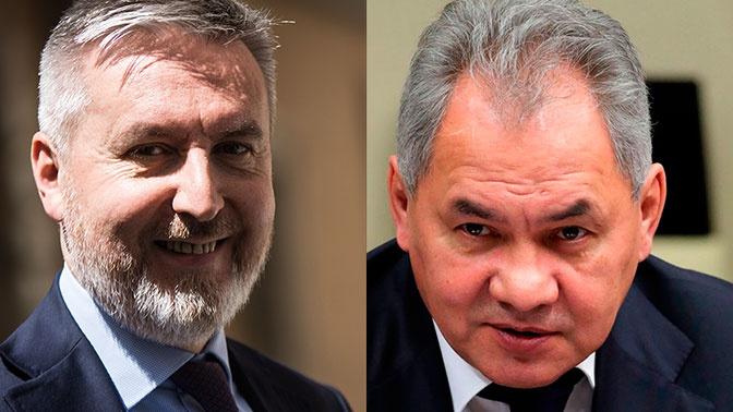 Шойгу провел переговоры с министром обороны Италии об организации помощи от России в борьбе с коронавирусом