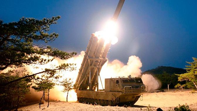 В КНДР сообщили об испытаниях многозарядной пусковой установки