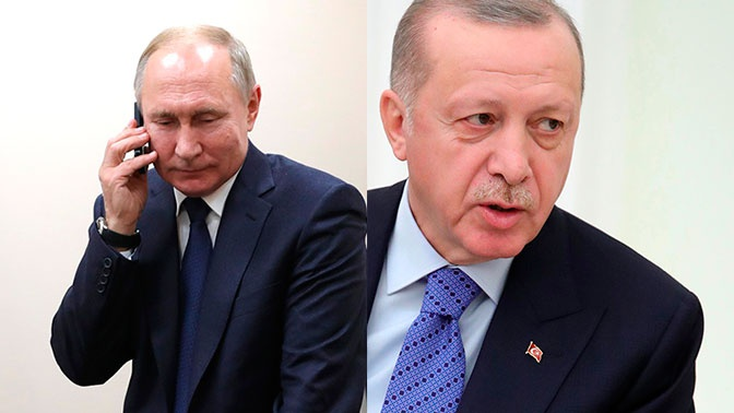 Путин и Эрдоган договорились о продолжении контактов на различных уровнях