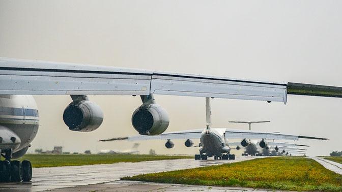 Первый самолет ВКС РФ с гумпомощью вылетел в Сербию