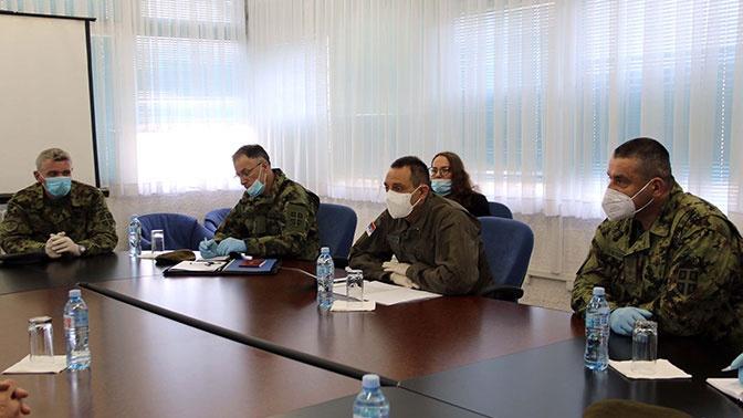 Первое совместное совещание военных РФ и Сербии состоялось на аэродроме Батайница