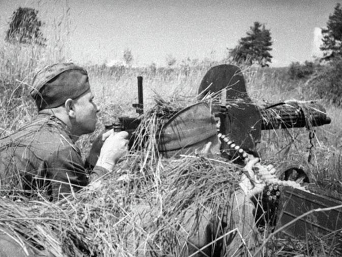 Пулемет Максима во время ВОВ.