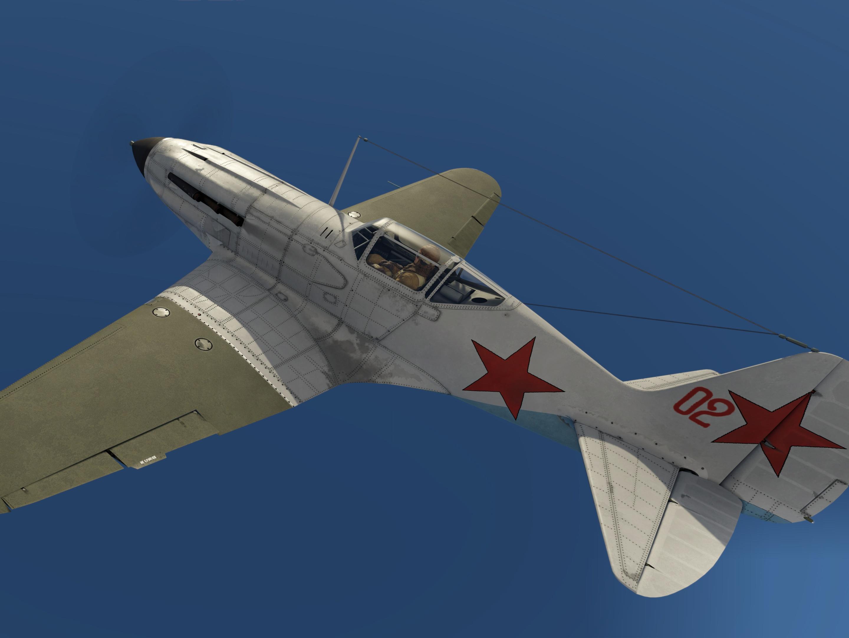 МиГ-3-34, 120-й иап ПВО Москвы (1942). Кадр из игры War Thunder, автор ливреи – Ustanovka_SK