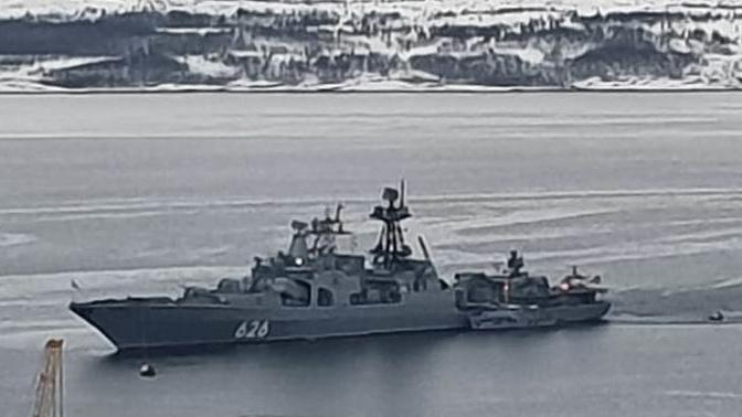 БПК «Вице-адмирал Кулаков» попал в книгу рекордов ВС РФ за арктический поход