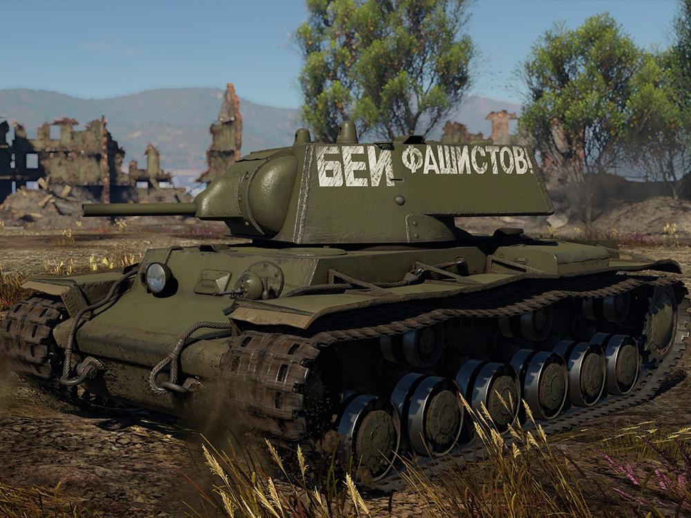 КВ-1 (Л-11), 104-я танковая дивизия, (1941). Кадр из игры War Thunder, автор ливреи – AviatoR_76