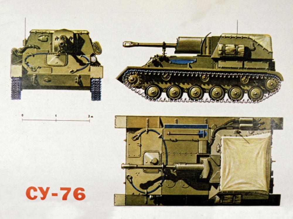 Легкая самоходная установка СУ-76. Репродукция из книги