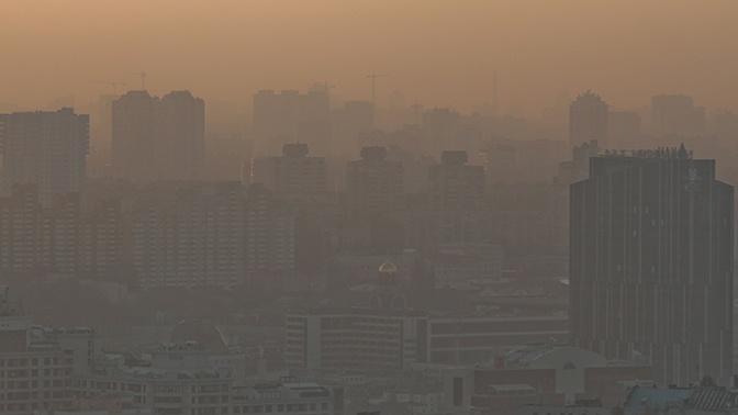 Дым от пожаров в Чернобыльской зоне отчуждения накрыл Киев