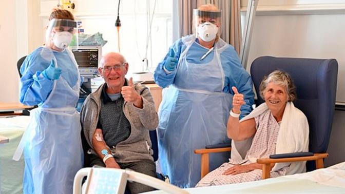 Прожившие 56 лет вместе супруги вылечились от коронавируса в один день