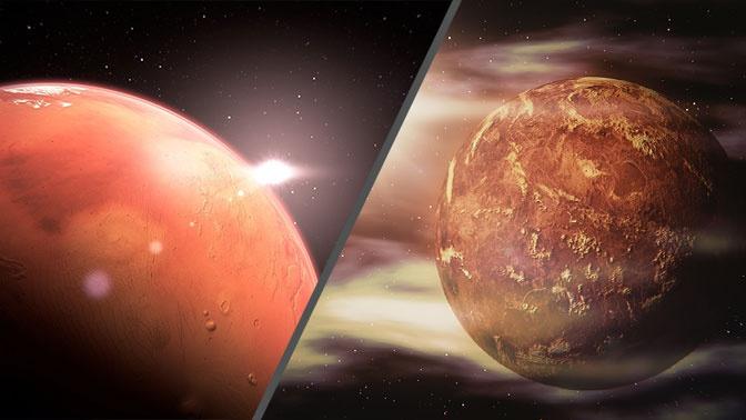 Российские ученые доказали возможность жизни микроорганизмов на Марсе и Венере