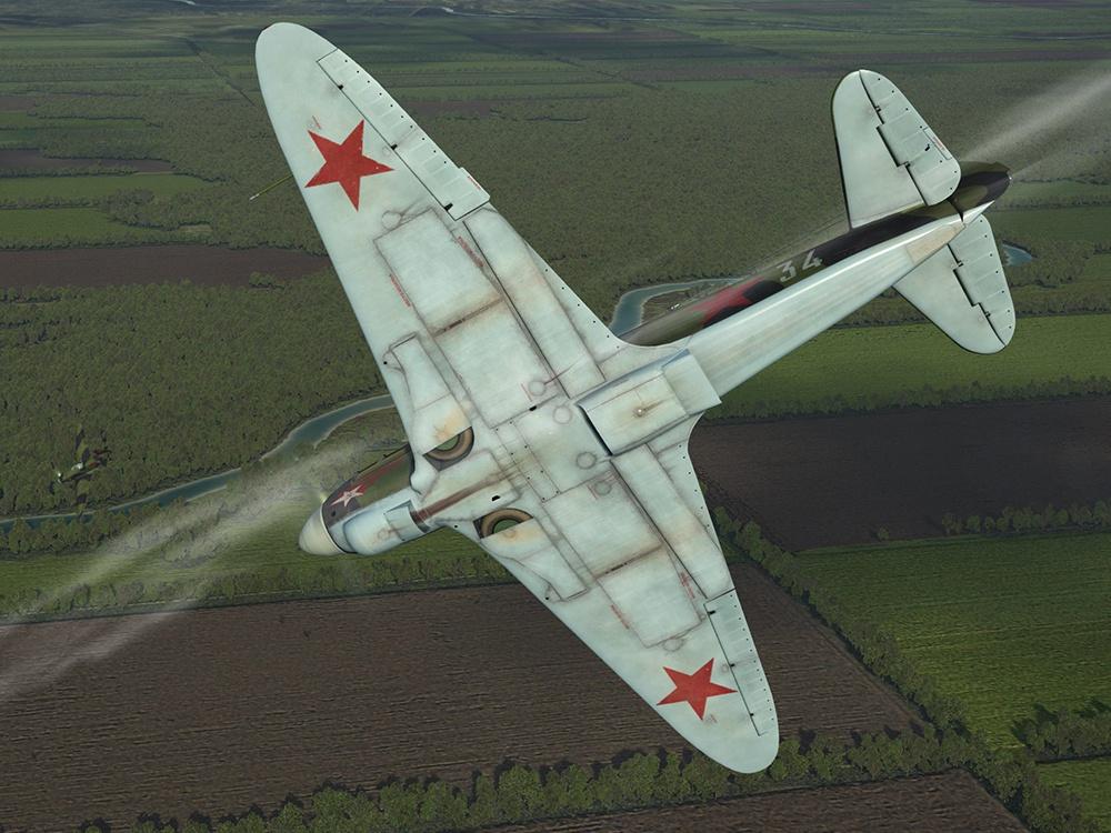 Як-1Б, 1943 год. Данные варианты текстур, воссоздающие исторические окраски самолётов, выполнены Максимом Брянским.