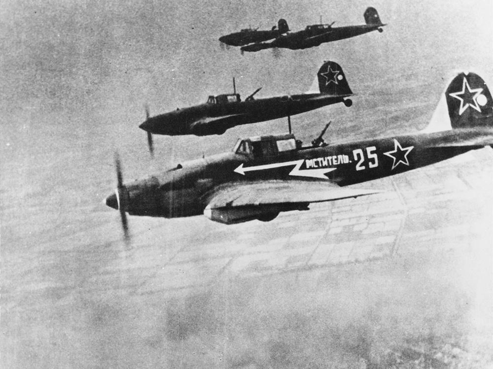 Ильюшин Ил-2 над Берлином. 1945 год<figcaption class=