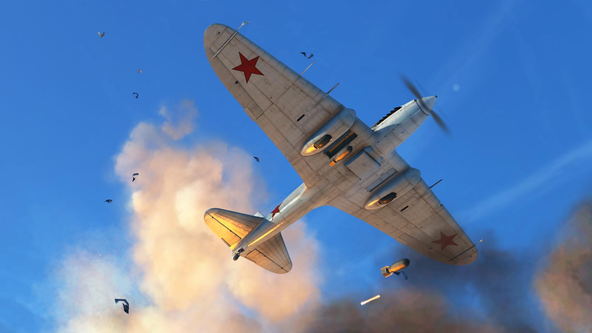 Данные варианты текстур, воссоздающие исторические окраски самолётов, выполнены Максимом Брянским.<figcaption class=