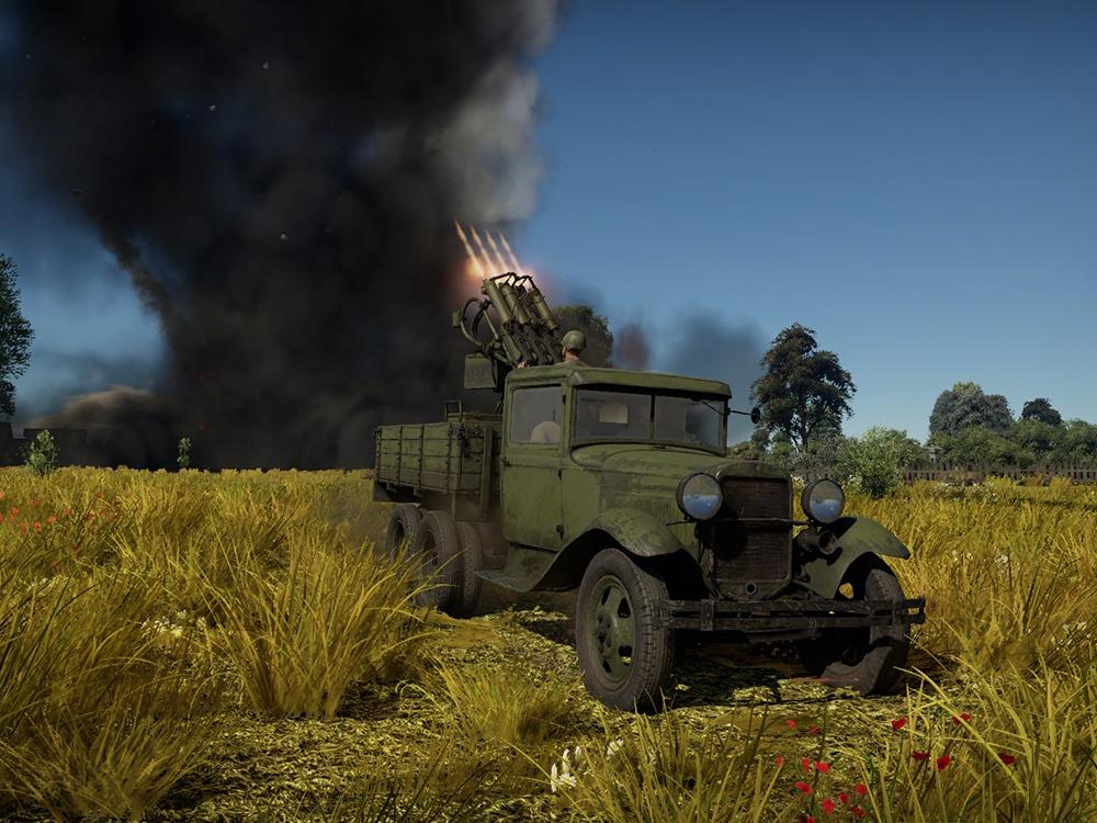 """ГАЗ-ААА со счетверенным пулеметом """"Максим"""". В общей сложности было выпущено около 12000 зенитных установок этого типа, которые эксплуатировались до конца 1945 года."""