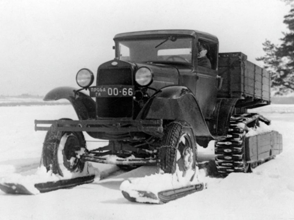 Снегоход на базе грузового автомобиля