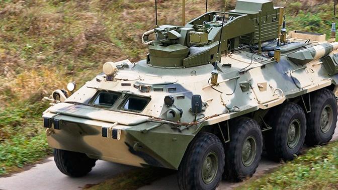 Военные в Барнауле получили на перевооружение противодиверсионные машины «Тайфун-М»